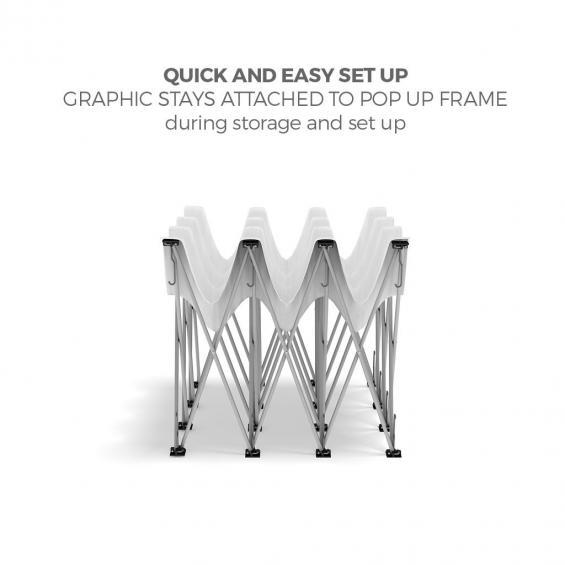 FabTex 2 Double Frame Popup Display of43c display frame