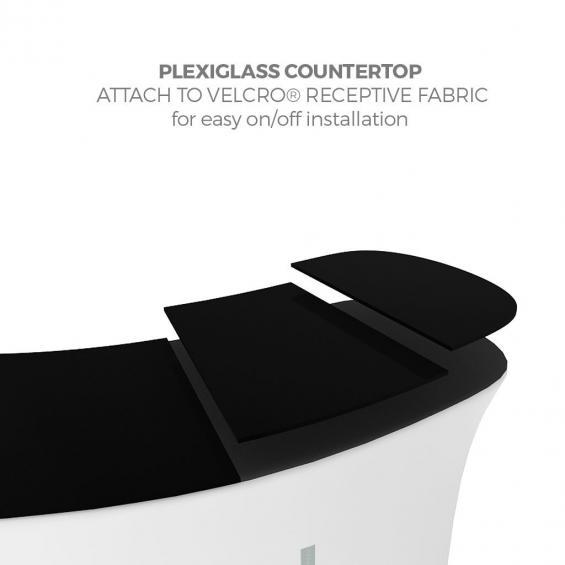 FabTex Infodesk counter curved countertop