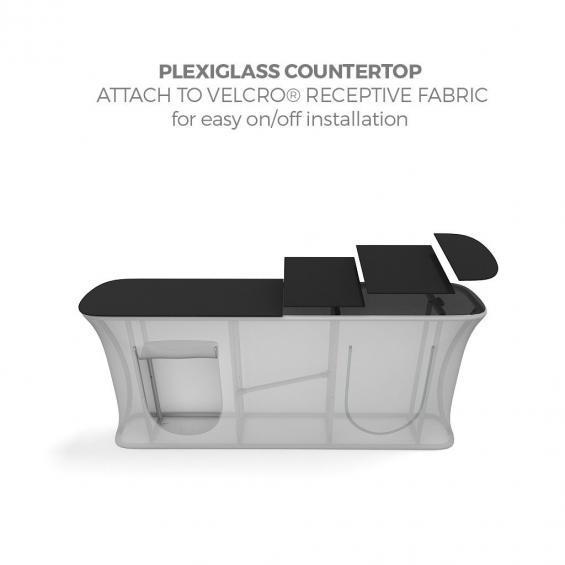 FabTex Infodesk counter straight countertop