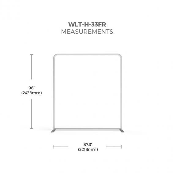 FabTex wavelight backlit display frame size 33f
