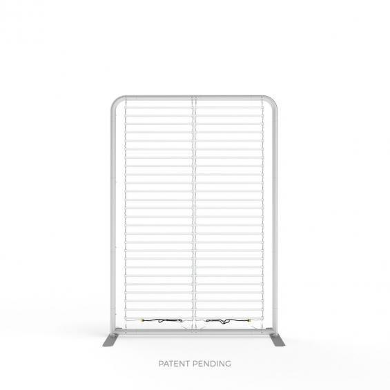 FabTex wavelight backlit display stand led lights frame assembled