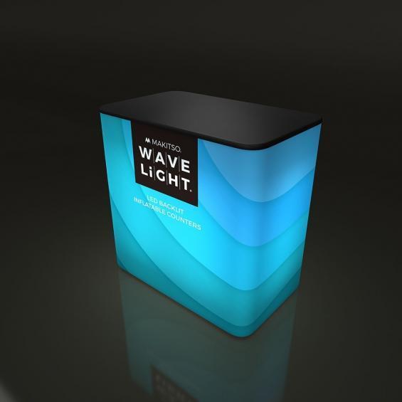 WaveLight Inflatable LED Backlit Counter Rectangular 01