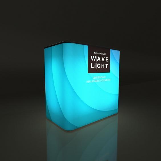 WaveLight Inflatable LED Backlit Counter Rectangular 02