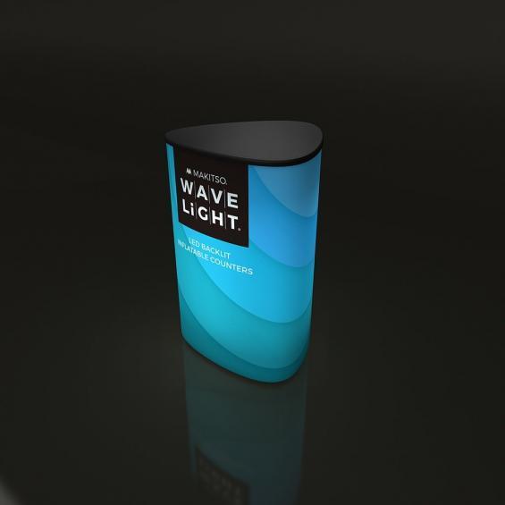 WaveLight Inflatable LED Backlit Counter Triangular 01