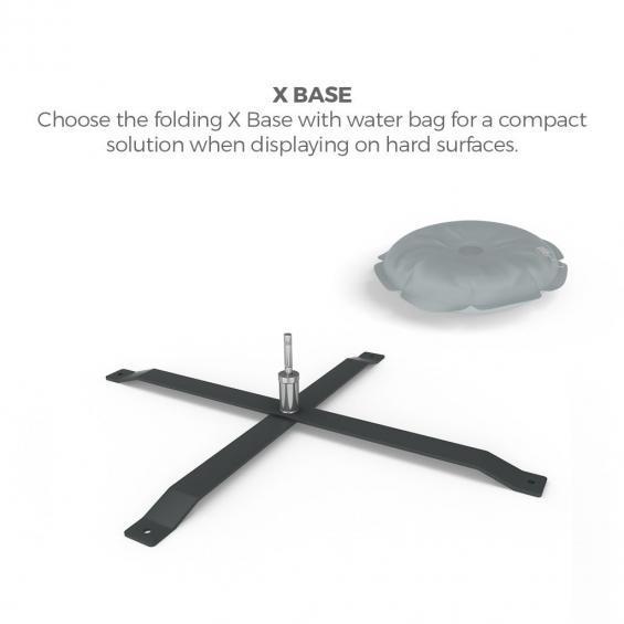 FabTex blade flag xl promo advertising feather flag x base