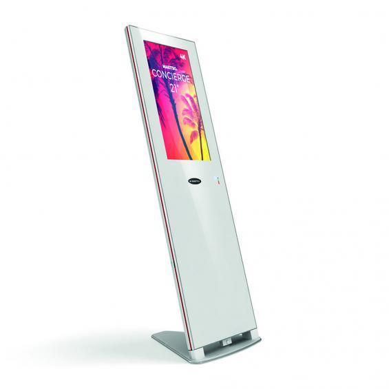 concierge 21 inch digital kiosk white 2