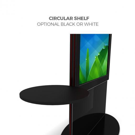 iD blade pro digital signage kiosk 4k circular shelf b