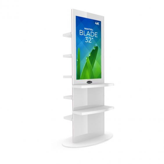 iD blade pro digital signage kiosk 4k shelves