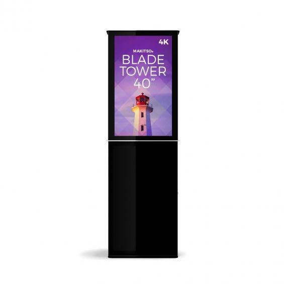 iD blade tower digital signage kiosk 4k 40 b