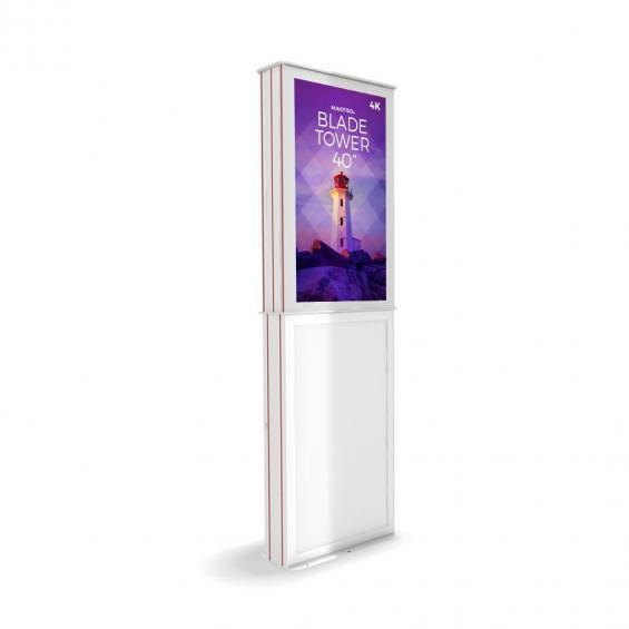 iD blade tower digital signage kiosk 4k 40 w2