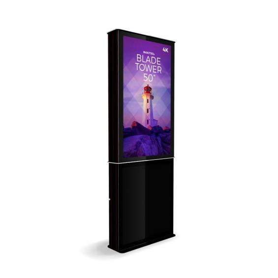 iD blade tower digital signage kiosk 4k 50 b2