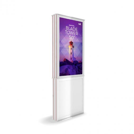 iD blade tower digital signage kiosk 4k 50 w2