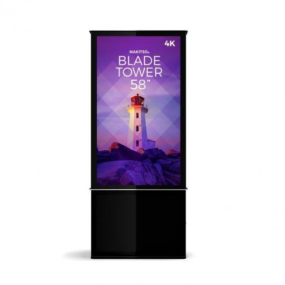 iD blade tower digital signage kiosk 4k 58 b
