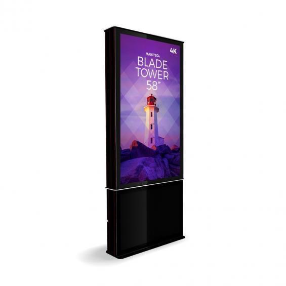 iD blade tower digital signage kiosk 4k 58 b2