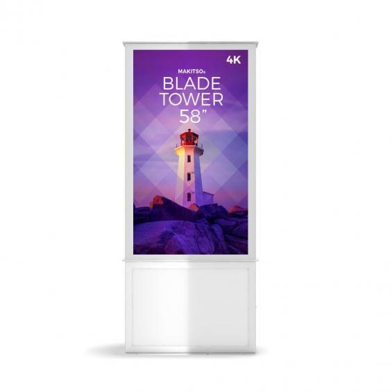 iD blade tower digital signage kiosk 4k 58 w