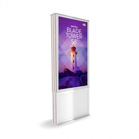 iD blade tower digital signage kiosk 4k 58 w2
