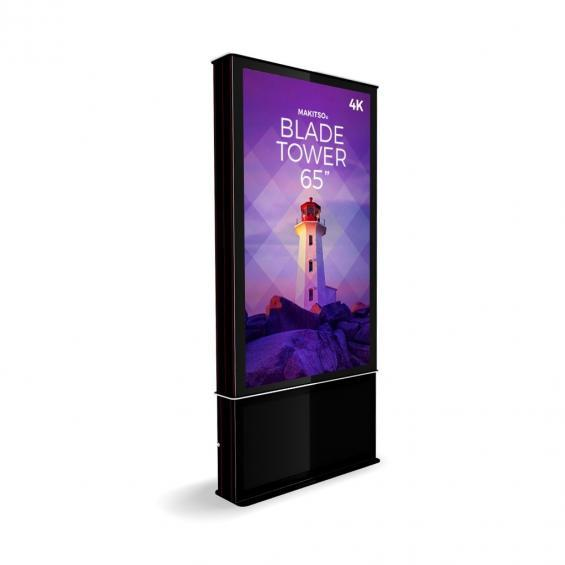 iD blade tower digital signage kiosk 4k 65 2