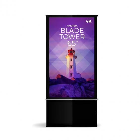 iD blade tower digital signage kiosk 4k 65 b