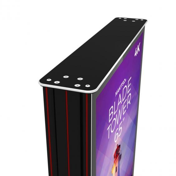 iD blade tower digital signage kiosk 4k 65 top angle