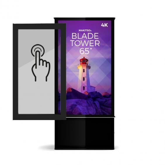 iD blade tower digital signage kiosk 4k 65 touch screen 1
