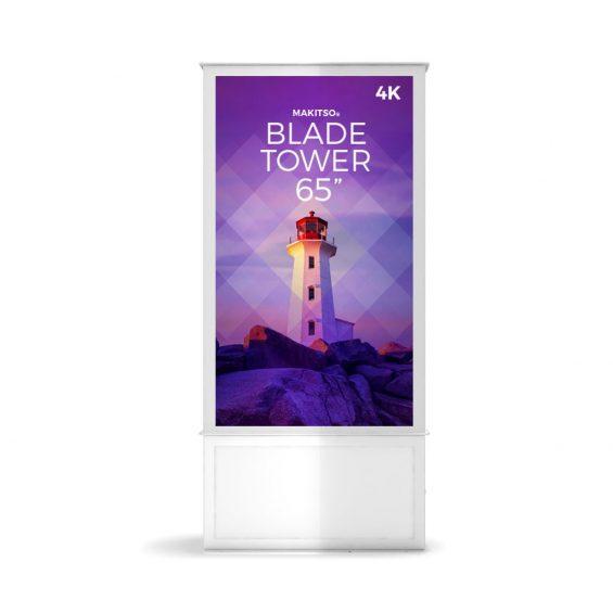 iD blade tower digital signage kiosk 4k 65 w