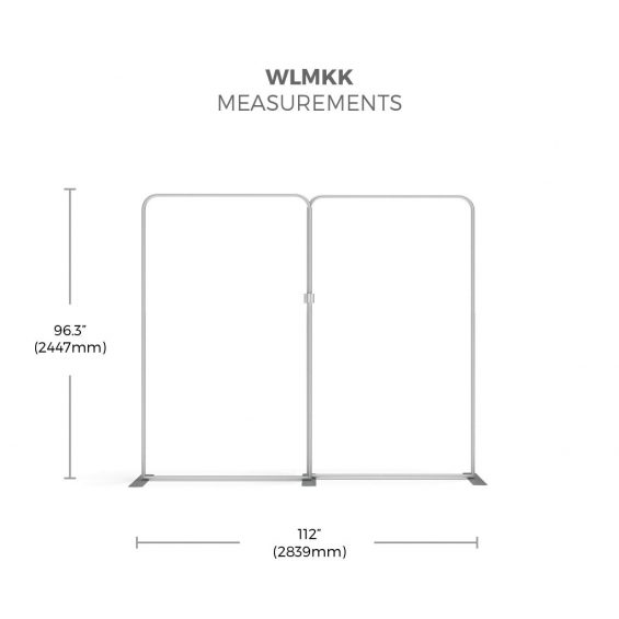 FabTex Exhibition Stand Kit 3m wlmkk framework