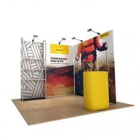 FabTex Retail merchandiser pop up store a