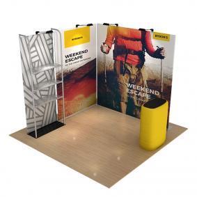 FabTex Retail merchandiser pop up store b