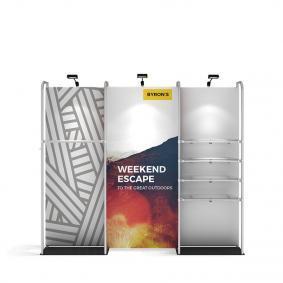 FabTex Retail merchandiser pop up store display 10ft d