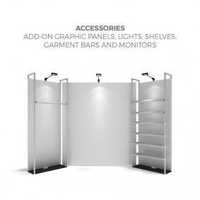 FabTex Retail merchandiser pop up store display accessories