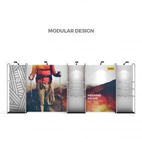 FabTex Retail merchandiser pop up store display modular design