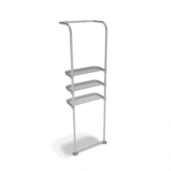 FabTex waveline waterfall trade show display shelving for exhibits 5