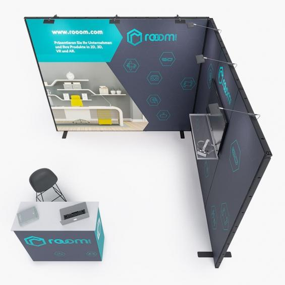 QuickStand Kit 5 Modular Exhibition Stand 3x3 Top