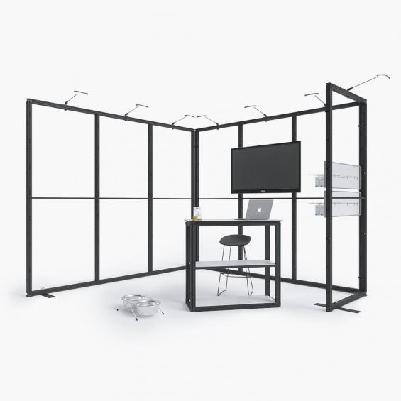 QuickStand Kit 13 Modular Exhibition Stand 3x3 Framework