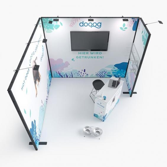 QuickStand Kit 13 Modular Exhibition Stand 3x3 Top