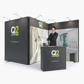 Corner Exhibition Stands Kit : Qwick self build kit innov displays