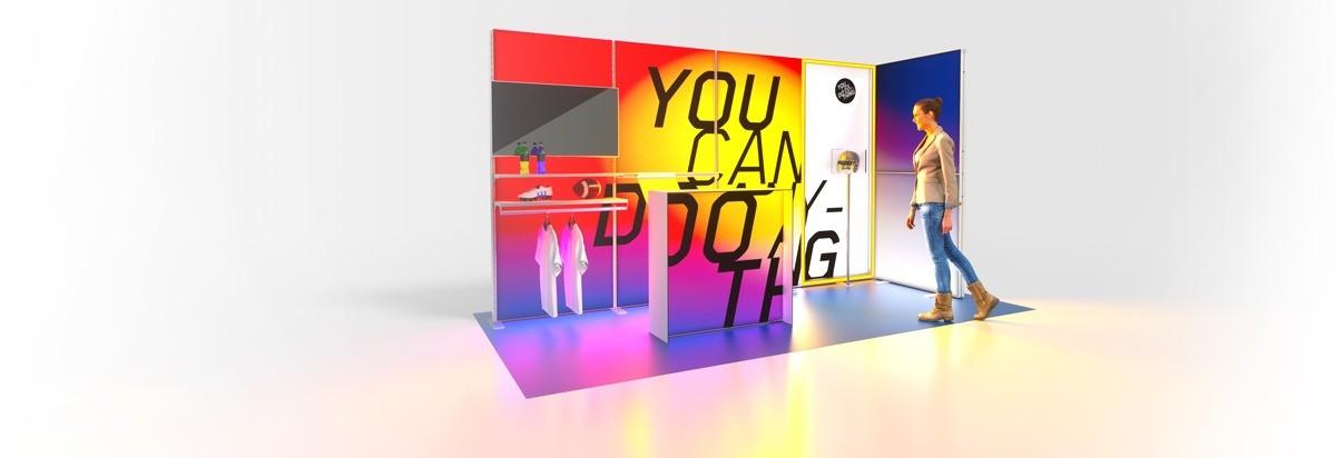 Corner Exhibition Stands Kit : Lumin modular backlit display stands innov displays