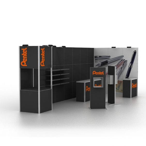 Clever Frame Modular Exhibition Display Stand 19