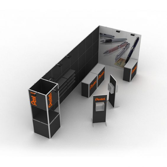 Clever Frame Modular Exhibition Display Stand 20